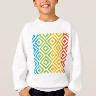 Buntes Diamant-Muster Sweatshirt