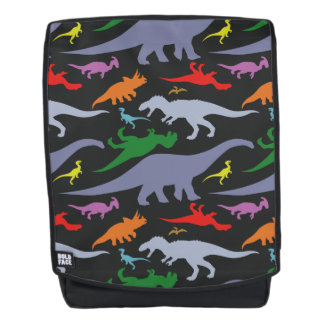 Buntes Dinosaurier-Muster (dunkel) Rucksack