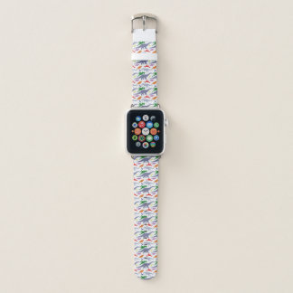 Buntes Dinosaurier-Muster (Licht) Apple Watch Armband
