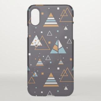 Buntes Dreieck-Muster iPhone X Hülle