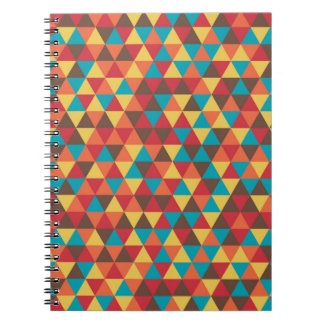 Buntes Dreieck-Muster Spiral Notizblock