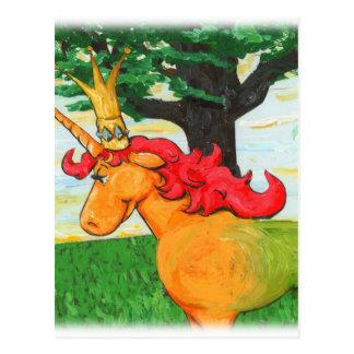Buntes Einhorn Postkarte