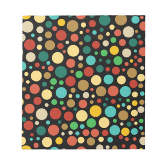 Buntes farbiges Mehrfarbenpunkt-Muster Notizblock