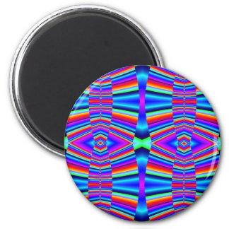 Buntes Fraktal Runder Magnet 5,1 Cm