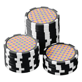 Buntes Fruchtmuster Poker Chip Set