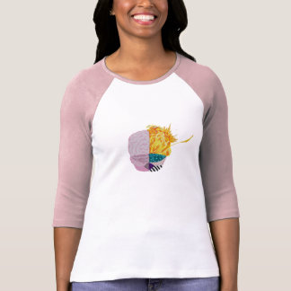 Buntes Gehirn T-Shirt