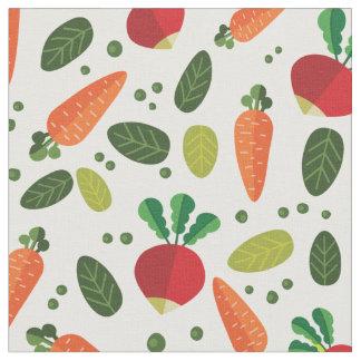 Buntes Gemüse-Muster Stoff