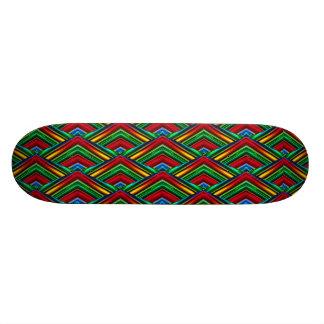 Buntes geometrischer Entwurfs-Skateboard Individuelle Skatedecks