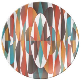 Buntes geometrisches abstraktes porzellanteller
