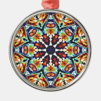 Buntes geometrisches abstraktes silbernes ornament
