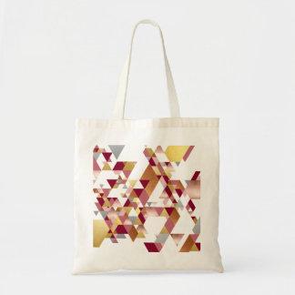 Buntes geometrisches Dreieckmuster Tragetasche