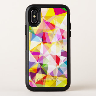 Buntes geometrisches gemustertes OtterBox symmetry iPhone x hülle