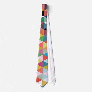 Buntes geometrisches Kaleidoskop-gemusterte Personalisierte Krawatte
