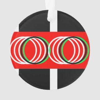 Buntes geometrisches Muster 4Eric Ornament