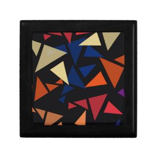 Buntes geometrisches Muster Geschenkbox