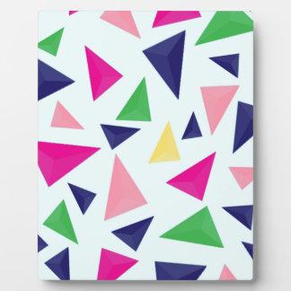 Buntes geometrisches Muster II Fotoplatte