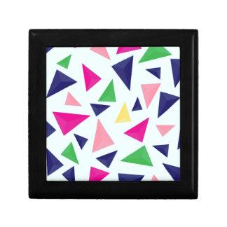 Buntes geometrisches Muster II Geschenkbox