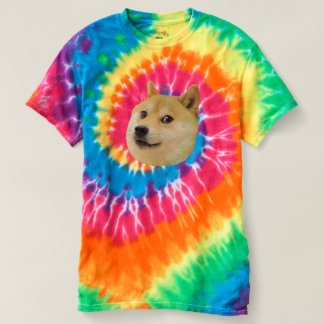 Buntes gewundenes Krawatten-Shirt des Doge Shirts