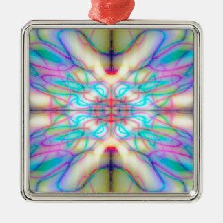 Buntes gezeichnetes Muster Silbernes Ornament