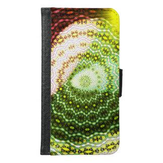 Buntes glänzendes helles Muster Geldbeutel Hülle Für Das Samsung Galaxy S6