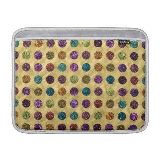 Buntes Glitter-Polka-Punkt-Gold Sleeve Fürs MacBook Air