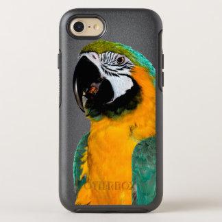 buntes Goldaquamarines Macawpapageien-Vogelporträt OtterBox Symmetry iPhone 8/7 Hülle