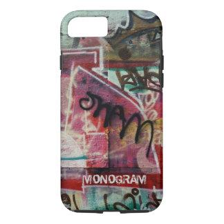 Buntes Graffiti-Straßen-Schmutz Kunst-Monogramm iPhone 8/7 Hülle