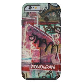 Buntes Graffiti-Straßen-Schmutz Kunst-Monogramm Tough iPhone 6 Hülle
