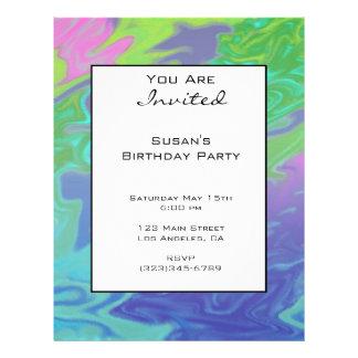 Buntes grün-blaues abstraktes Party laden ein Flyer