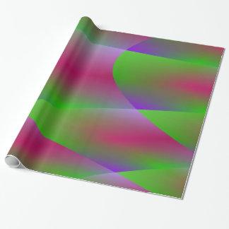Buntes grünes Plasma-Fraktal-Verpackungs-Papier Geschenkpapier