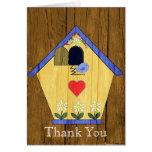 Buntes Gurren-Gurren-Vogel-Haus danken Ihnen Grußkarte