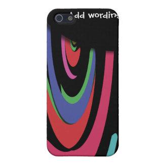 Buntes helles Muster des Retro Regenbogen-Hippies Schutzhülle Fürs iPhone 5