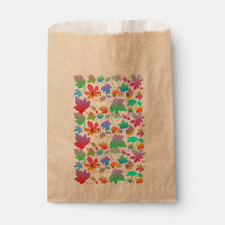 Buntes Herbst-Blätter Geschenktütchen