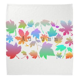 Buntes Herbst-Blätter Kopftuch