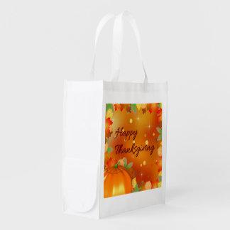 Buntes Herbst-Blätter - Wiederverwendbare Einkaufstasche