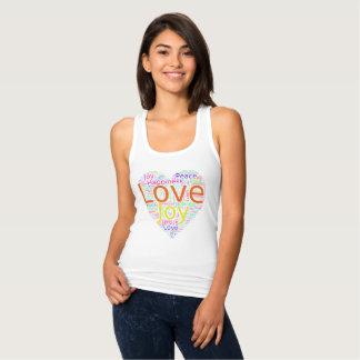 Buntes Herz der Liebe, der Freude, des Friedens Tank Top
