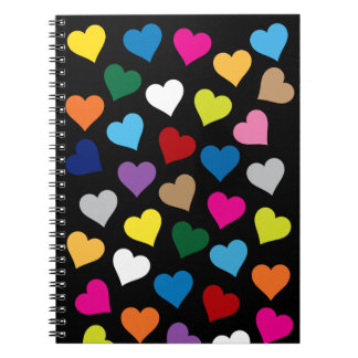 Buntes Herz-Notizbuch Notizblock