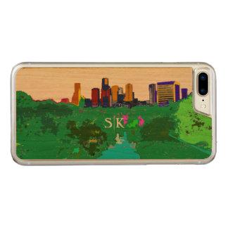Buntes im Stadtzentrum gelegenes Skyline-Monogramm Carved iPhone 8 Plus/7 Plus Hülle