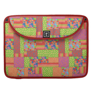Buntes Imitat-Patchwork des Sommers trägt Muster MacBook Pro Sleeve