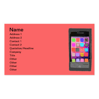 Buntes intelligentes Telefon Visitenkarten