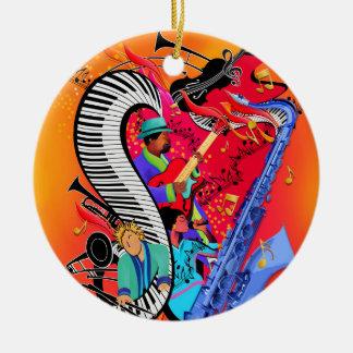Buntes Jazz-Musik-Kunst-Verzierungs-Geschenk Keramik Ornament
