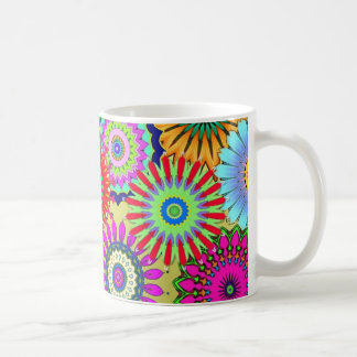 Buntes Kaleidoskopmuster Kaffeetasse