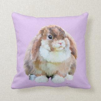Buntes Kaninchen Kissen