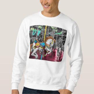 Buntes Karussell-Pferd am Karneval Sweatshirt