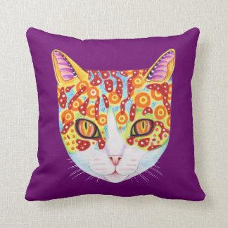 Buntes Katzen-Kissen
