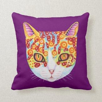 Buntes Katzen-Kissen Kissen