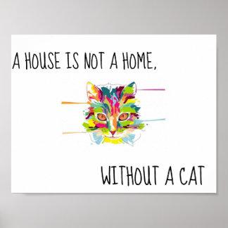 Buntes Katzen-Plakat Poster