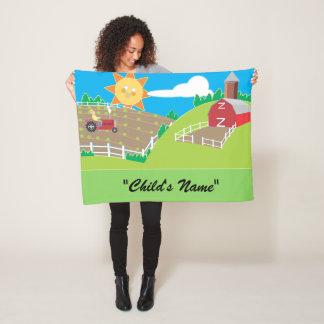 Buntes Kind, das Entwurfs-Fleece-Decke Fleecedecke