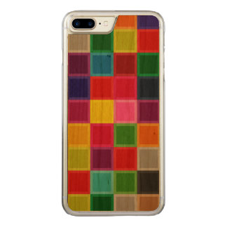 Buntes Kirschholz schnitzte iPhone 7 Plusfall Carved iPhone 8 Plus/7 Plus Hülle