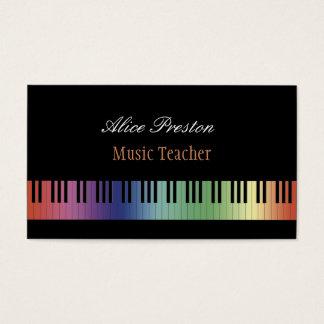 Buntes Klavier des Musik-Lehrer-| Visitenkarte